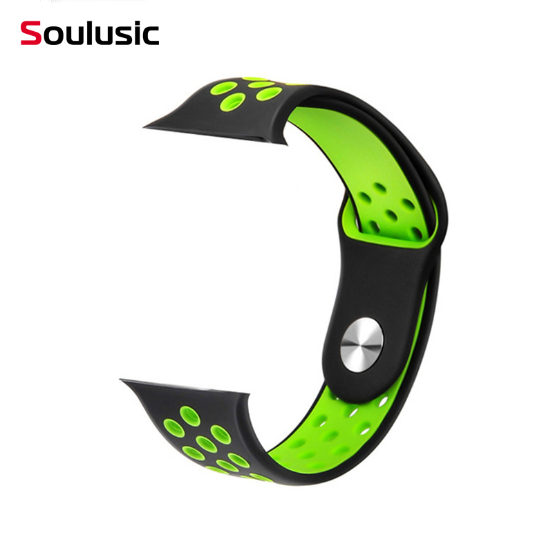 Soulusic 42mm Smart Bracelet Silica band <font><b>strap</b></font> Smartwatch Accessories Replace <font><b>Strap</b></font> for Smartwatch <font><b>S226</b></font>,F9,F8,IWO 8,IWO 12 Pro image