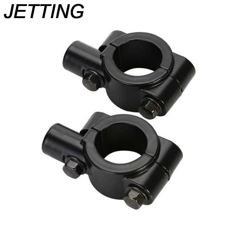 Jetting 1PC Motor Kaca Stang Cermin Mount Pemegang Adaptor Clamp 8 Mm/10 Mm