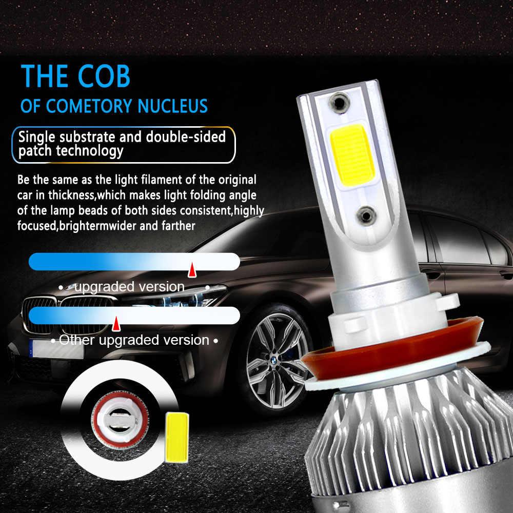 Send by DHL Super Bright LED Car Headlight H1 H3 H4 H7 Headlamp Light H11 HB3/9005 HB4/9006 9012 9007 H13 6000K 72W 7600LM