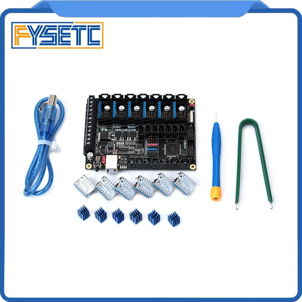 FYSETC F6 V1.3 Bordo ALL-in-one Electronics Soluzione Mainboard + 6 pz Speciale TMC2130 V1.2 Per SPI funzione di Volo Filo