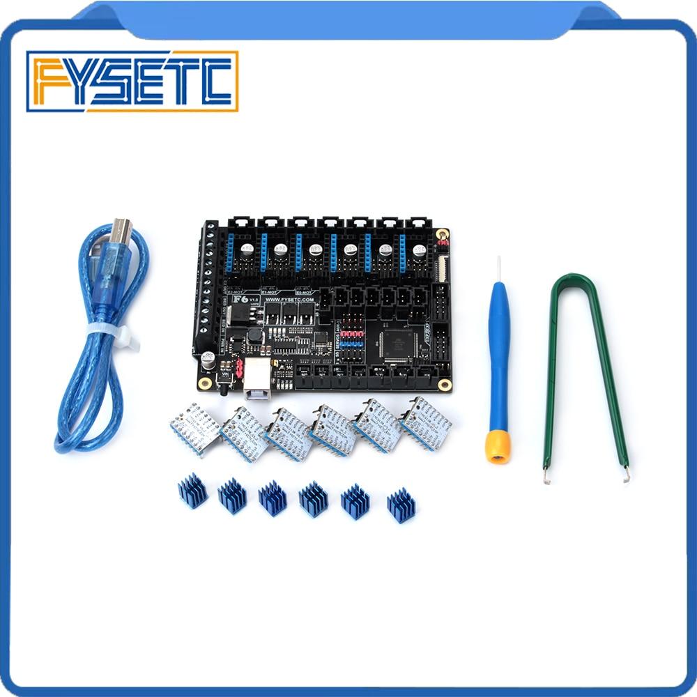 FYSETC F6 V1.3 Bord ALLE-in-one-Elektronik Lösung Mainboard + 6 stücke Spezielle TMC2130 V1.2 Für SPI funktion Fliegen Draht