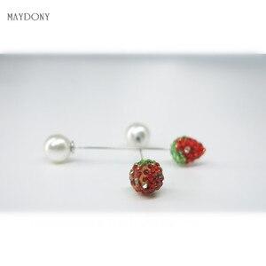 Image 3 - SP129 12 Pz/set di Modo 10mm Shambara Sfera di Cristallo Spilla Pin Sciarpa Musulmana del Hijab pin Pin Sciarpa Clip Wedding Pin Per donne