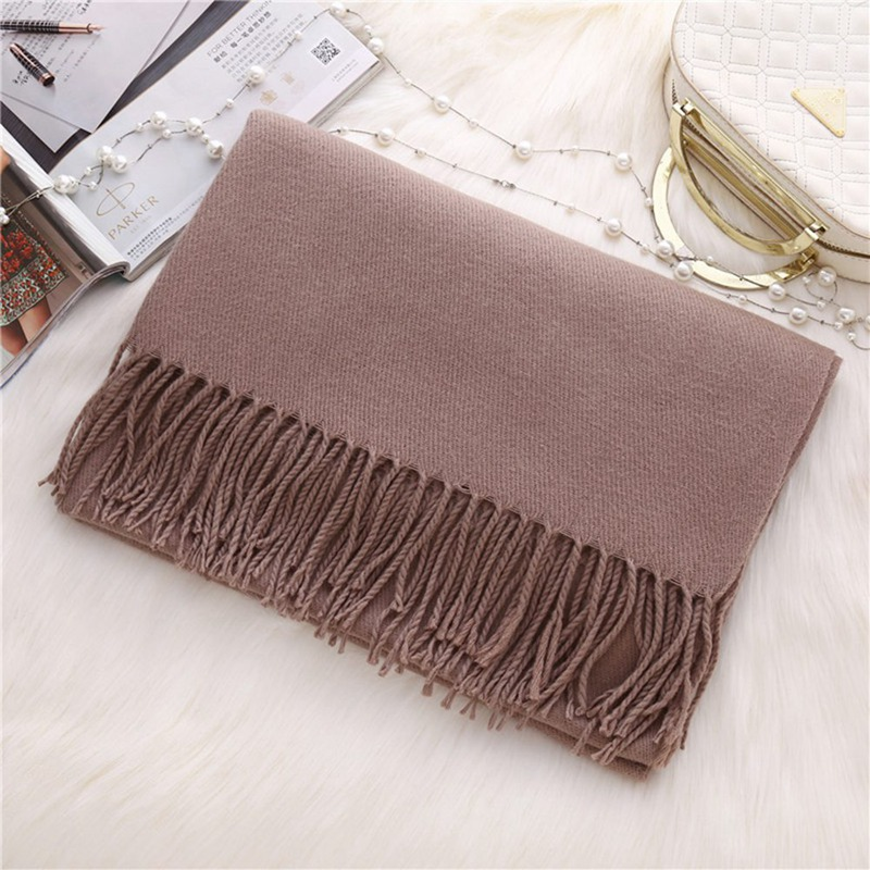 2018 Fashion New Winter Scarves For Women Shawls  Comfortable Warm Scarves Ladies Solid Color Blanket  Cashmere Scarf