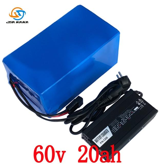 60 v 20AH batterie Au Lithium 60 v 20AH Électrique vélo Batterie 60 v 1500 w scooter utilisation de la batterie 3.7 v 5AH 26650 cellulaire avec 67.2 v 5A chargeur