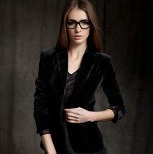 дешево!  Европа женская короткая куртка Skinny Gold бархатный пиджак Пальто Slim Fit новый c52 Лучший!