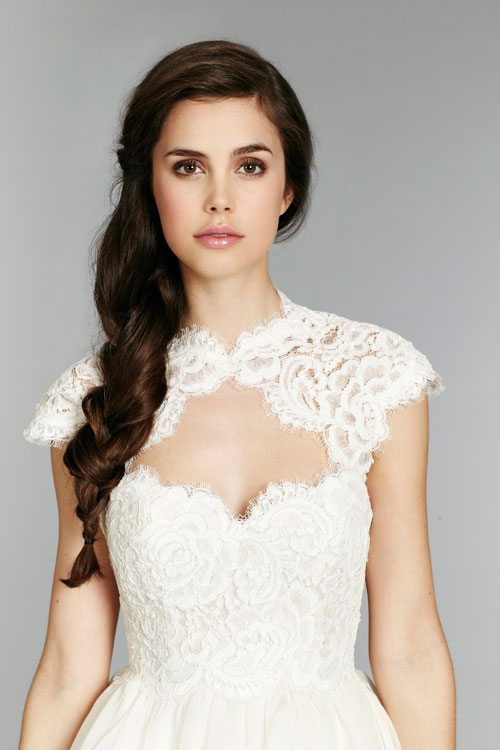 Removable Cap Sleeve Vintage Lace Wedding Dress 2016 New Arrival Strapless Flounced A Line Bridal Gown Vestido De Noiva W9111 In Dresses From