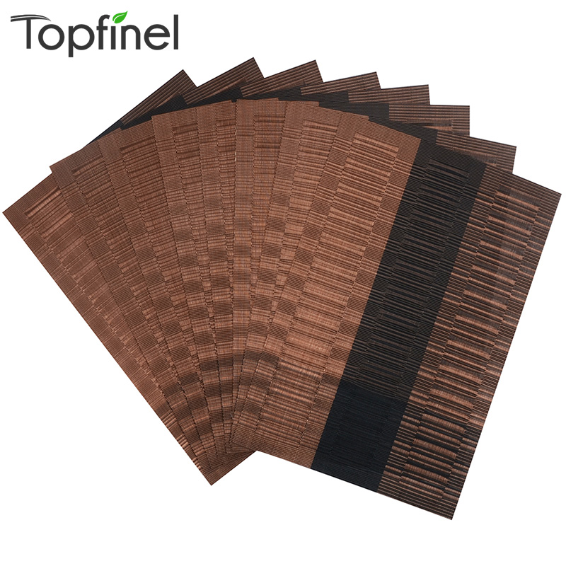 Top Finel 2016 Set of 8 PVC Bamboo Plastic Placemats for  : Top Finel 2016 Set of 8 PVC Bamboo Plastic Placemats for Dining Table Runner Linen Place from www.aliexpress.com size 800 x 800 jpeg 207kB