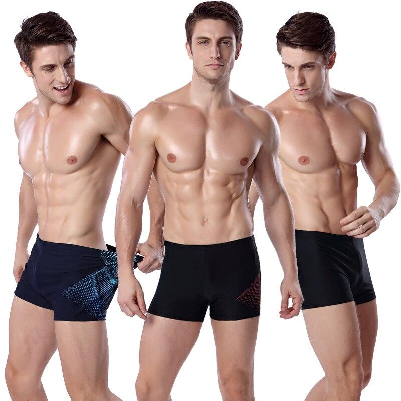 New Mens Print Swim Trunks Briefs Elastic Swimming Shorts Pants Men Summer Surfing Swimsuit Swimwear Plus Size Spa Bathing Suit