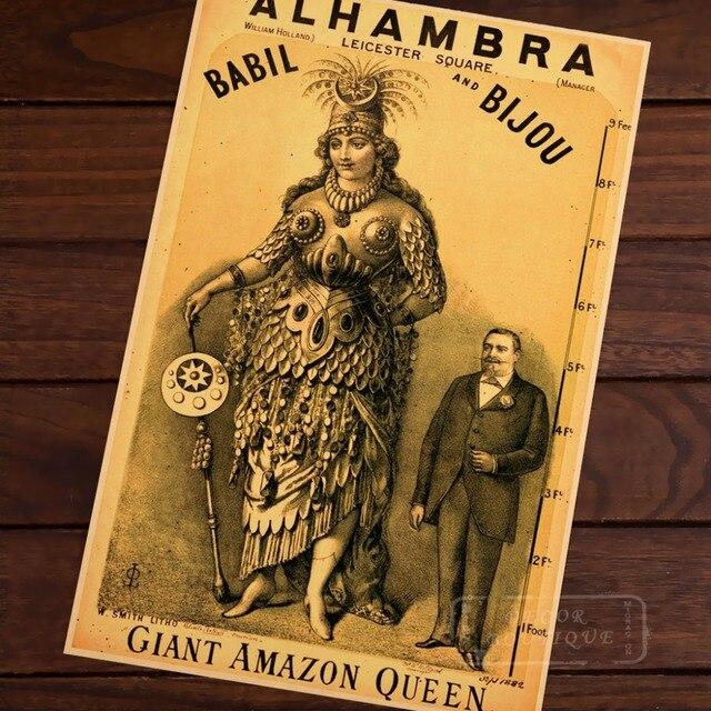 Viktorianskij Urod Pokazat Gigantskij Amazon Vintazh Istoriya Retro