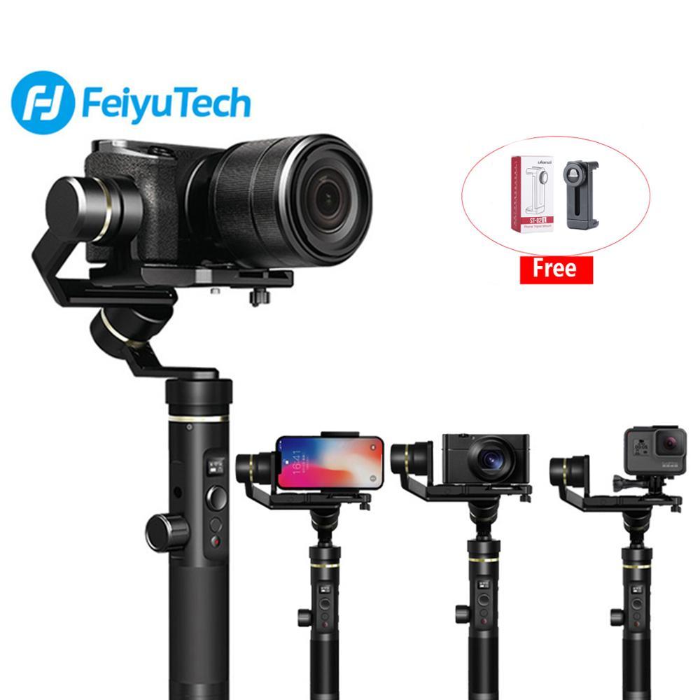 Stabilisateur sans brosse de cardan Bluetooth Wifi 3 axes Feiyu G6 Plus pour caméra sans miroir iPhone GoPro 6 EKEN H9