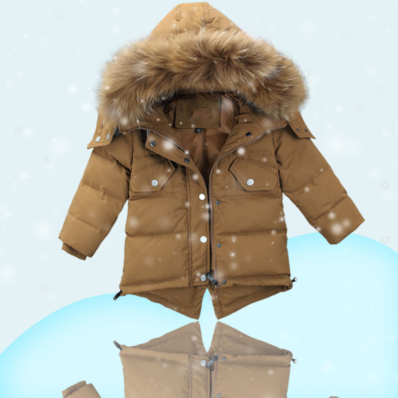 new 2017 boys girls down coats kids fur hooded winter jackets for girl clothes thick boys outerwear children warm tops clothing 2017 new winter jackets for boys fashion boy thicken snowsuit children down coats outerwear warm tops clothes big kids clothing
