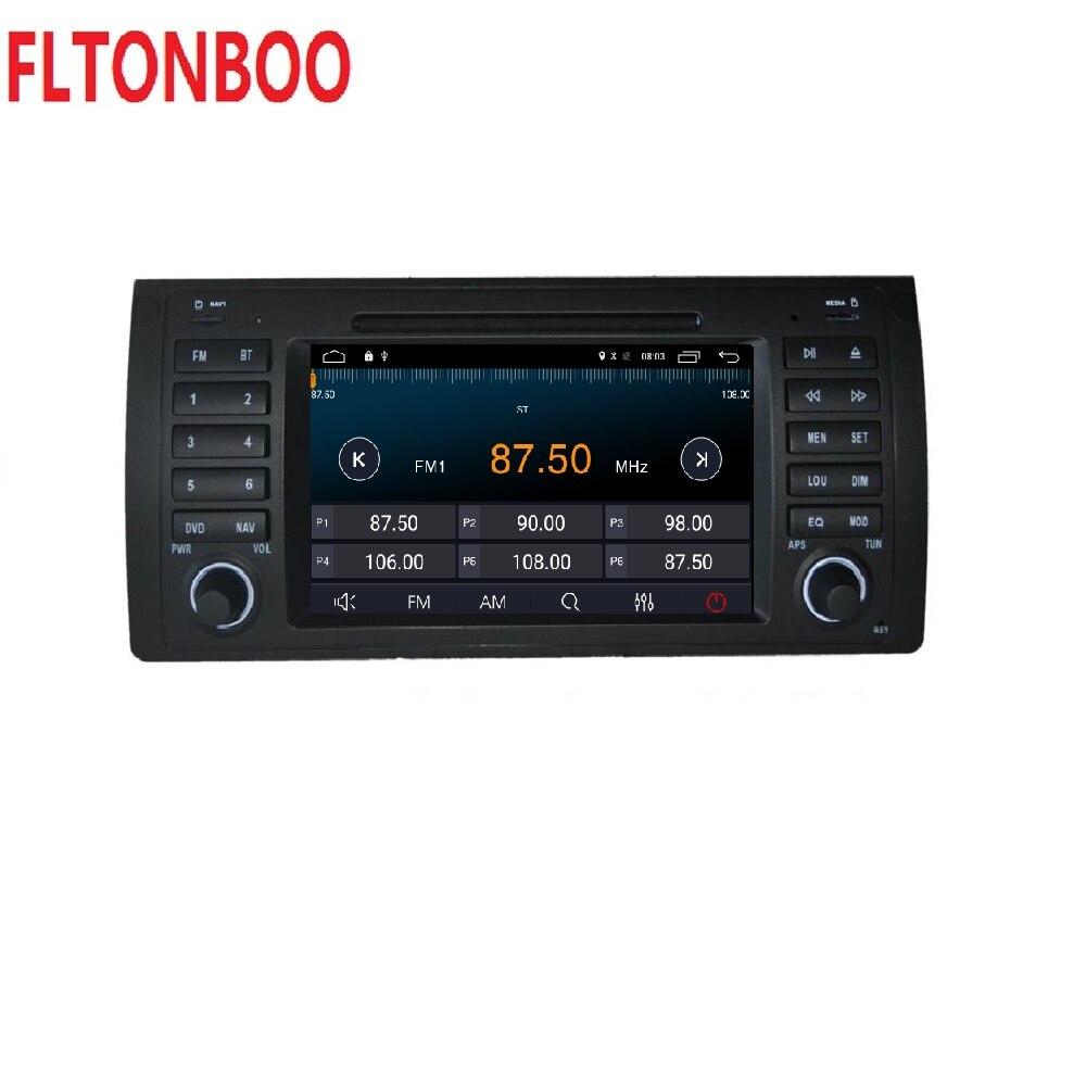 Android 8.1 pour bmw E39, X5, M5, E53 dvd de voiture, navigation gps, wifi, radio, bluetooth, cache de volant Canbus Livraison 8g carte, micro, écran tactile - 4