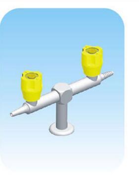 K003 robinet à gaz de laboratoire en cuivre pur Double port debout et style parallèle