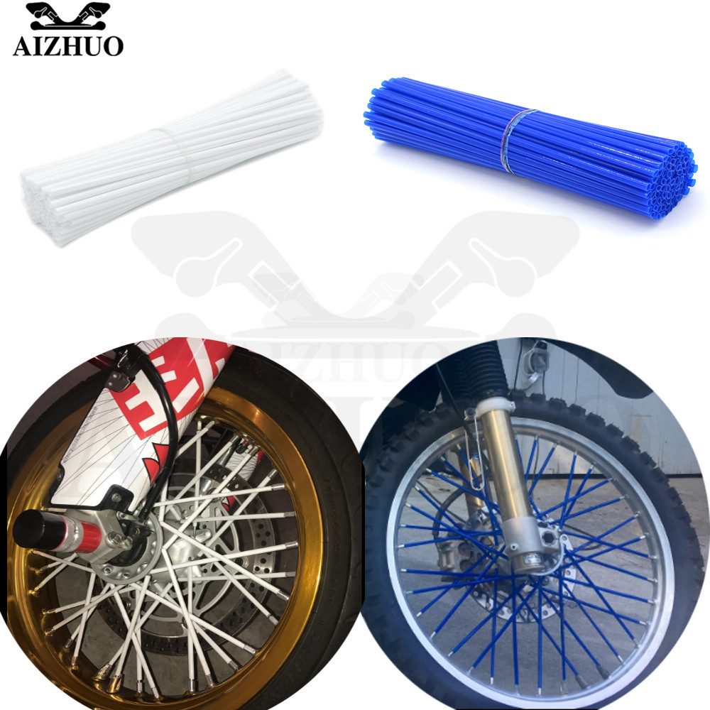 Motorcycle Wheel Spoke Rim Stents Skins Cover Wrap Tube Decorated For HONDA CRF 250R/450R CRF250R CRF450R 2007-2016
