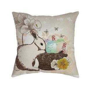 Image 5 - Thỏ In Đệm Phục Sinh Sofa Giường Nhà Trang Trí Lễ Hội Bảo Vệ Môi Trường Vỏ Gối Đệm
