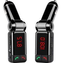 Автомобиля Bluetooth передатчик BC06B LCD MP3 FM Передатчик SD USB зарядное устройство Громкой Связи Mp3-плеер Aux Вход для iOS и Android телефоны