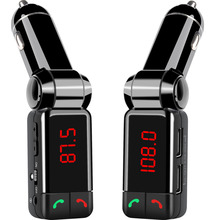 Car Bluetooth transmitter BC06B LCD MP3 FM Transmitter SD USB Charger Handsfree Mp3 Player Aux Input for iOS and Android Phones