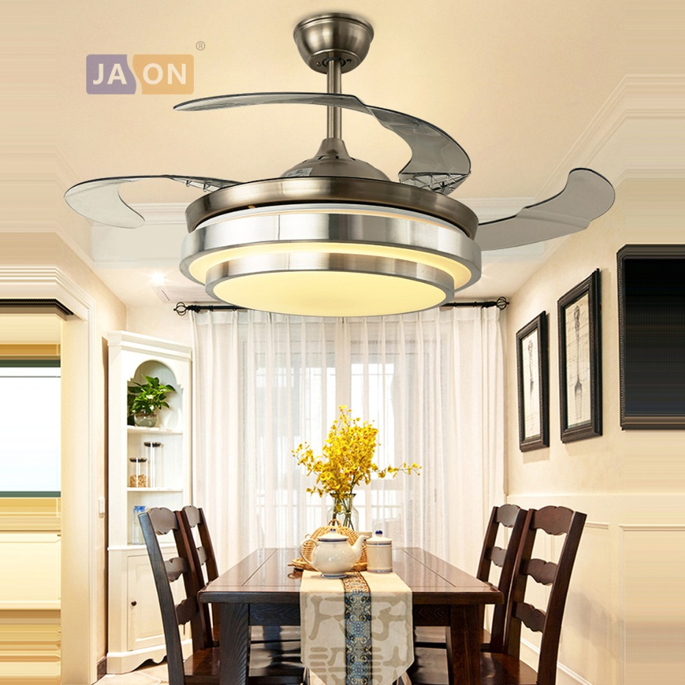 LED Modern Steel Alloy Acryl ABS Ceiling Fan.LED Lamp.LED Light.Ceiling Lights.LED Ceiling Light.For Foyer Bedroom