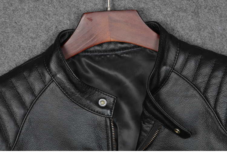 HTB1nOnwa2jsK1Rjy1Xaq6zispXaC Free shipping plus motor Brand style Vintage men's quality genuine leather Jackets slim 100% natural cowhide jacket.leather coat