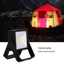 15W USB Rechargeable Camping Work Light Solar Camping Lamp Lantern Portable Outdoor Emergency Spotlight Lamp Hiking Tents Light(China)