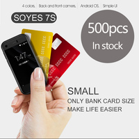 OYES 7S Smallest mini 3G Data Ultra thin Smartphone Android 5.1 Bluetooth4.0 & 1G+8G Memory Pedometer test