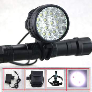 15T6 Rechargeable Bike Light Front Cycling Headlight 25000 Lumens 15xCree T6 Flashlight Bicycle Accessories + 18650 Battery Pack