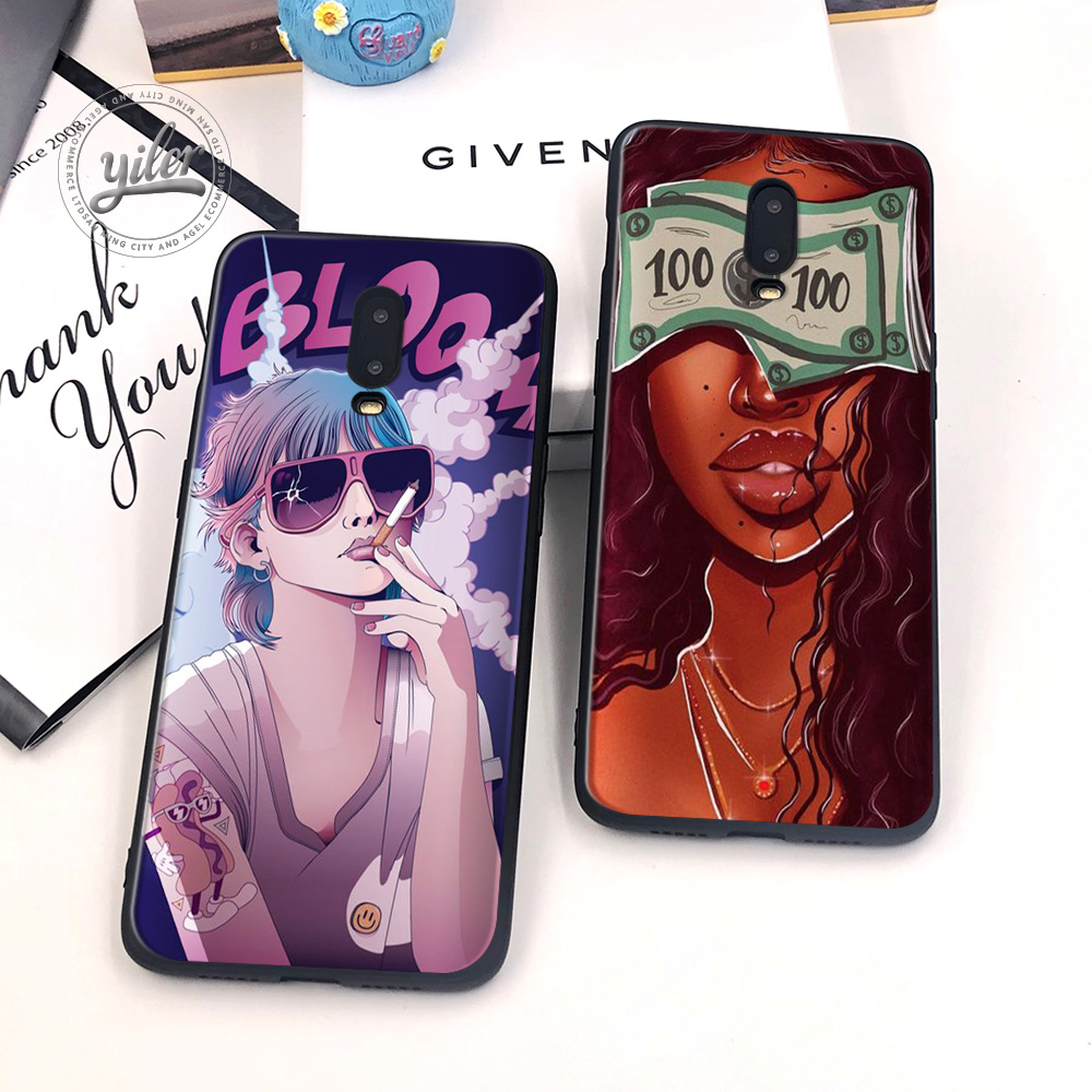 Black Girls for Case Oneplus 6T Phone Cover Black Soft TPU Case for Oneplus 7 Caseing Black Girls for Casing Oneplus 6T Cover-in Fitted Cases from Cellphones & Telecommunications