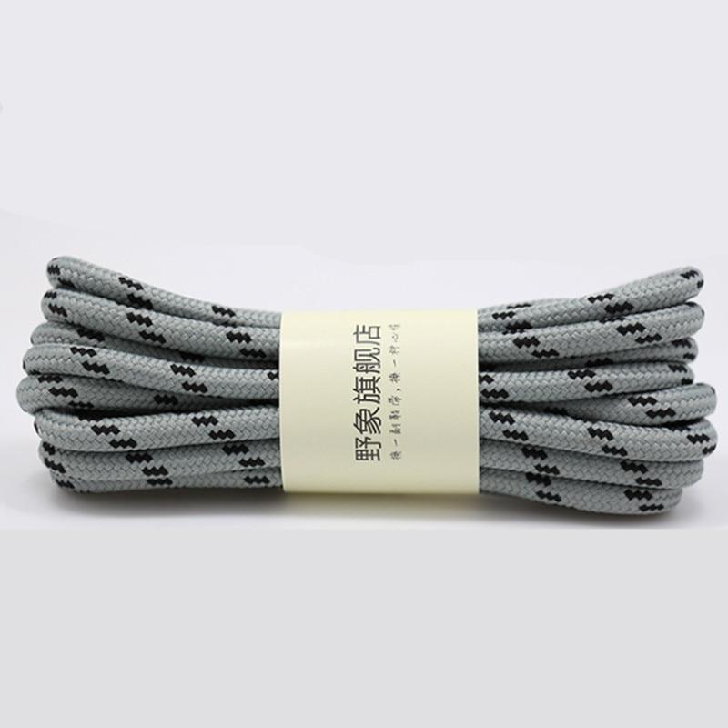 1 пара, высокое качество, унисекс, круглые шнурки, 140 см., кроссовки, шнурки, спортивная обувь, шнуровка, спортивная обувь - Цвет: Grey and Black