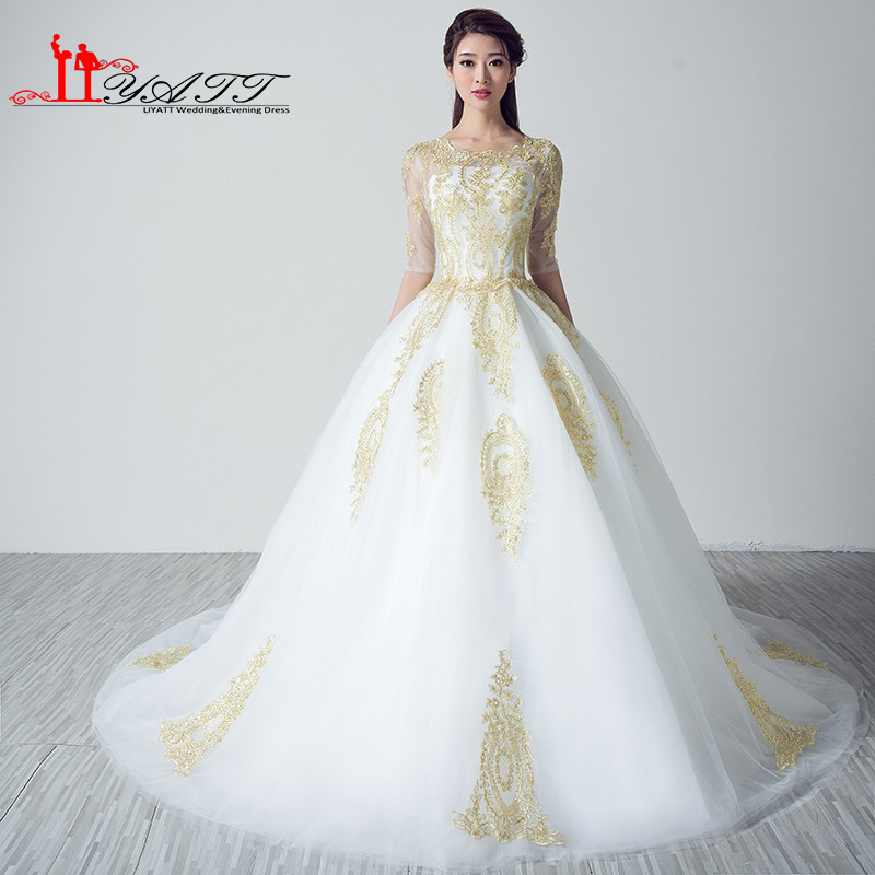 Online Buy Wholesale wedding dress vintage gold from China wedding ...