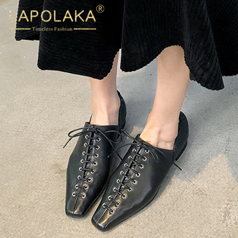 Lapolaka Hot Sale Large Size 34-40 Lace Up Square Toe Women Pumps Woman Shoes Elegant Chunky Heels Shoes Woman PumpsLapolaka Hot Sale Large Size 34-40 Lace Up Square Toe Women Pumps Woman Shoes Elegant Chunky Heels Shoes Woman Pumps