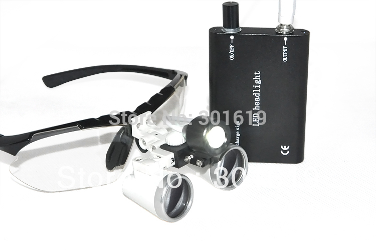 High Quality BLACK Dentist Dental Surgical Medical Binocular Loupes 3.5X 420mm Optical Glass Loupe + LED Head Light Lamp spark 2 5x magnification dentist surgical medical binocular dental loupes with comfortable headband and mounted led head light