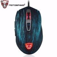 Motospeed V60 Professional USB Wired Gaming Mouse 5000 DPI Adjustable Optical RGB Backlit Mouse for Pro Gamer PC Desktop Laptop