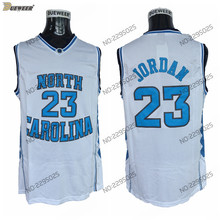 DUEWEER Mens North Carolina Tar Heels Michael Jordan College Basketball  Jersey Vintage White 23 Michael Jordan 19b33dbcb