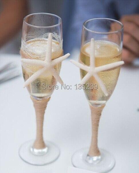 2 BEACH Champagne флейта жиынтығы, қалыңдық - Мерекелік және кешкі заттар - фото 1