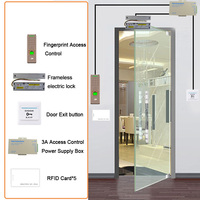 Eseye RFID Access Control System Kit Door Lock Set Eletric Magnetic Lock ID Card Power Supplier Box Door Exit Button