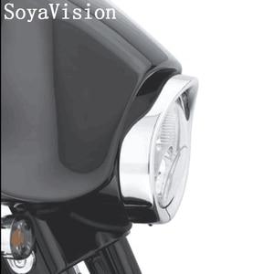 "Image 5 - For Harley Headlamp Visor Style Trim Ring For Touring Softail Original 7"" Headlight Visor Style Headlamp Trim Ring"