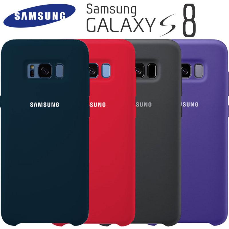 Samsung S8 Cas Original de Haute Qualité Souple En Silicone Protecteur Cas Samsung Galaxy S8 Plus Cas Galaxy S8 S8 + Silicon Retour couverture