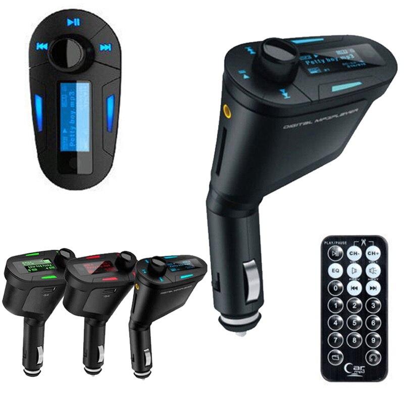 LCD Car Kit Car MP3 Player Remote Wireless FM Transmitter Modulato + USB SD MMC