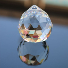 50mm/60mm/70mm 1pc Clear Crystal Glass Ball Faceted Gazing Ball Crystal Sphere Prisms Hanging Suncatcher Home Wedding Decor