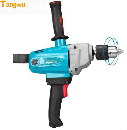 new putty powder mixer aircraft high power electric drill drill industrial grade cement paint mixer, household  d698 paint putty powder chemical lux mixer 220v 1000w industry speed adjustable blender