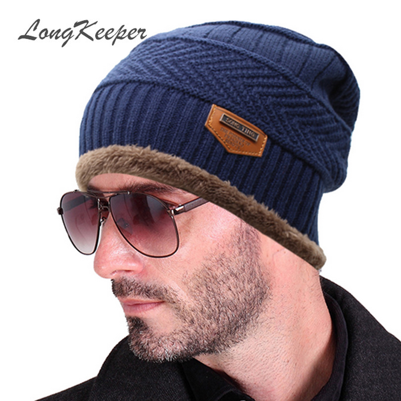 2016 Brand Beanies Knit Scarf Men's Winter Hat Caps Skullies Bonnet Winter Hats For Women Beanie Fur Warm Baggy Wool Knitted Hat