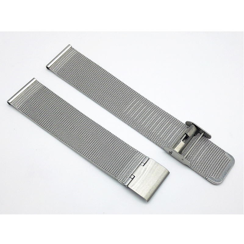 цена 17mm 19 mm Silver Mesh watch strap band Milanese Loop Steel Bracelet Wrist Watch Band Strap
