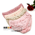Women's mulberry silk panties plus size briefs shorts thin seamless knitted silk panties Free shipping