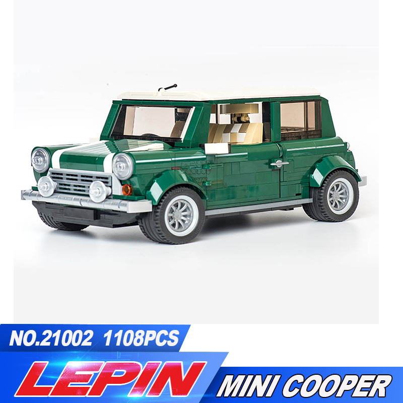 New Lepin 21002 technic series Cooper Model MK VII Building Kits Blocks Assemblage Bricks Compatible legoed 10242 free shipping lepin 21002 technic series mini cooper model building kits blocks bricks toys compatible with10242