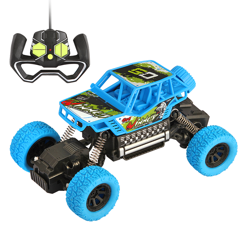 Remote Control Car High Speed Racing Bigfoot RC Car 4WD Toys 4CH Vehicle Off-Road Truck For Boys Kids Surprise Gift(Blue)