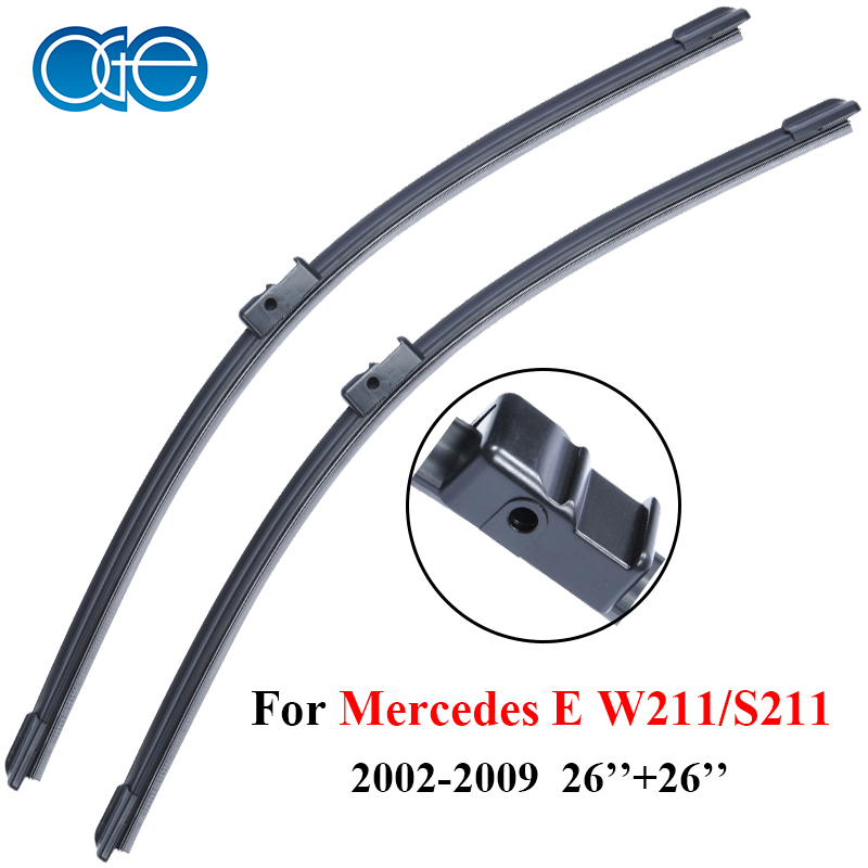 OGE Wipers For Mercedes E W211 S211 26 26 Rubber Bracketless Windscreen Blades Promotions Car Accessories
