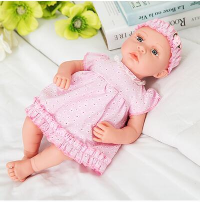 Ny 18-tommers livlig gjenfødt baby myk vinyl ekte touch dukke - Dukker og tilbehør - Bilde 5