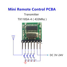 QIACHIP RF 433 Mhz 1527 Learning Code Wireless Remote Control Transmitter Module & 433.92Mhz DC 12V 24V Mini Receiver DIY kit
