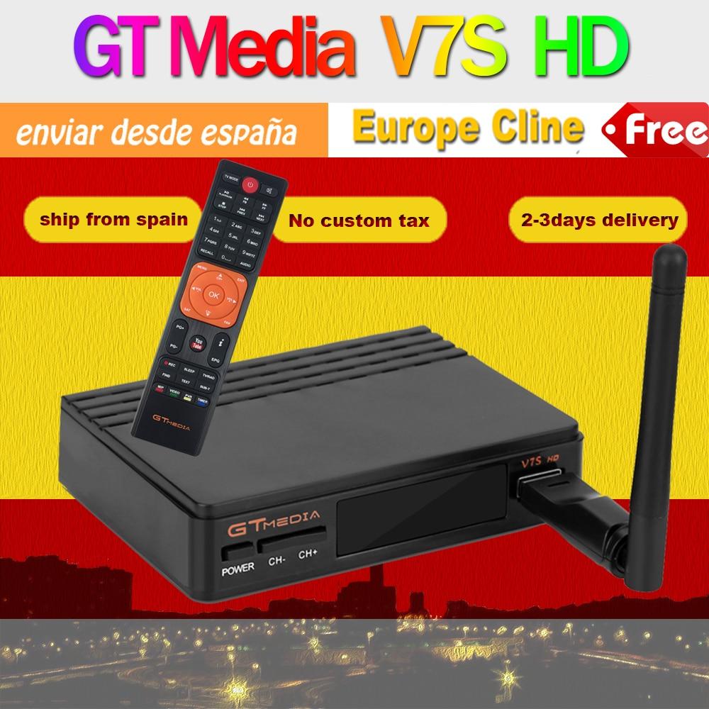 ホット販売衛星放送受信機 Gt メディア V7S Usb 無線 Lan のサポート DVB S2 ネットワーク共有 Gt メディア V7S HD 送信スペインから  グループ上の 家電製品 からの 衛星 TV 受信機 の中 1