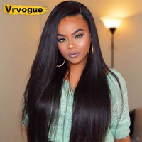 Vrvogue Hair 150% Density 360 Lace Frontal Wig Pre Plucked With Baby Hair Peruvian Lace Front Human Hair Wigs For Black Women